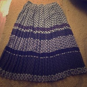 Anthropologie midi pleaded skirt